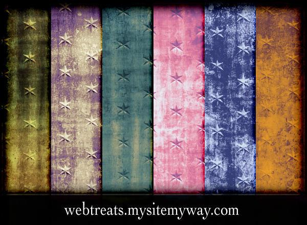 Grunge Star Patterns by WebTreatsETC