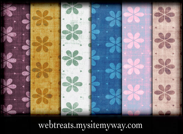 Grungy Floral Patterns by WebTreatsETC