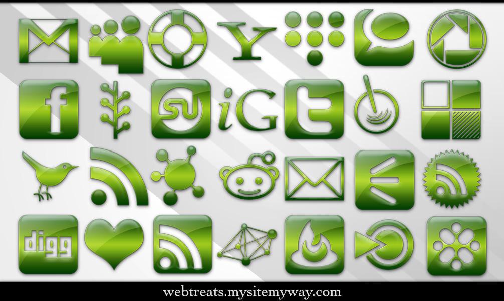 Green Jelly Social Media by WebTreatsETC