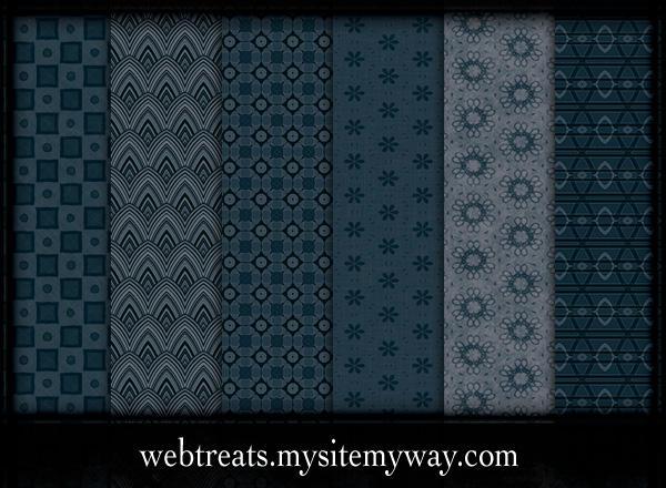 6 Midnight Blue Patterns by WebTreatsETC