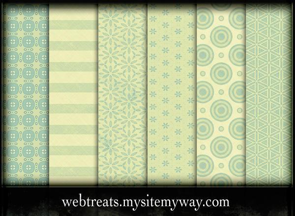 Lime Green Photoshop Patterns by WebTreatsETC