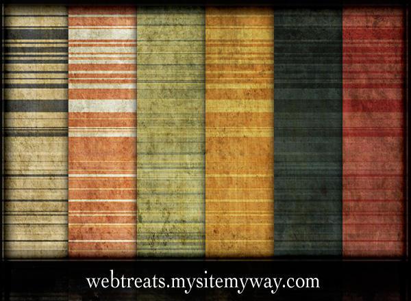 9 Grungy Stripes Patterns by WebTreatsETC
