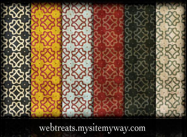 Grungy Retro Patterns - Part5 by WebTreatsETC