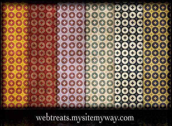 grungy retro patterns by WebTreatsETC