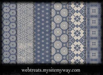 Free Faded Blue Patterns by WebTreatsETC