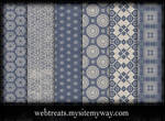Free Faded Blue Patterns