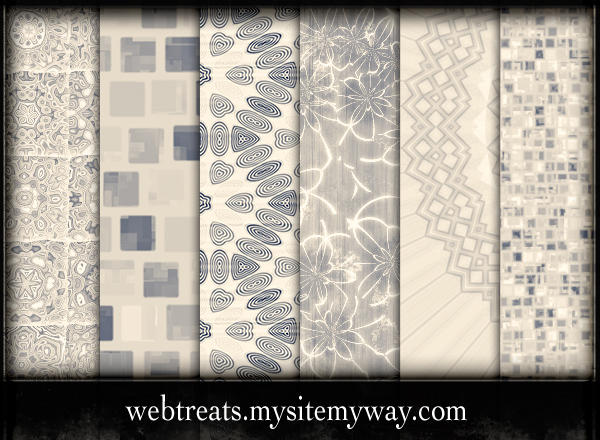 Assorted Beige Patterns by WebTreatsETC