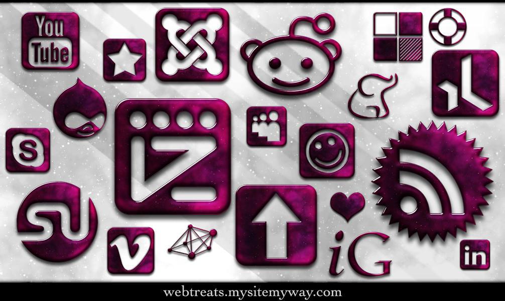 154 Glossy Space Icons by WebTreatsETC