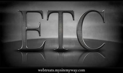 Textured Metal Text Effect