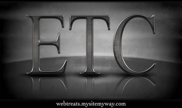 Textured Metal Text Effect