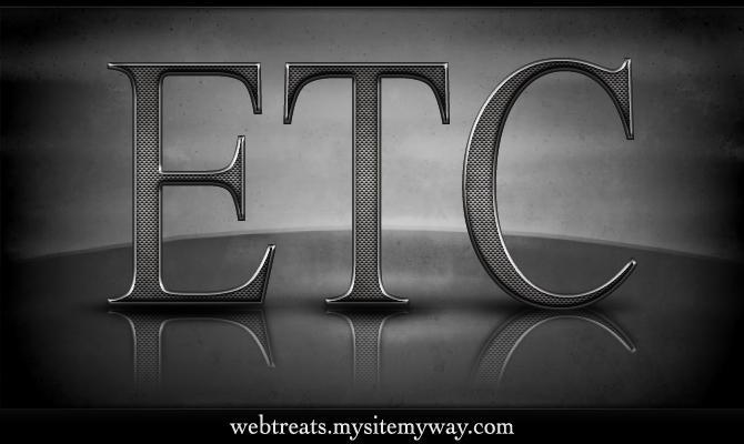 Textured Metal Text Effect by WebTreatsETC