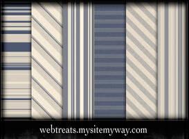 9 Blue Striped Patterns by WebTreatsETC
