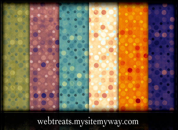 Colorful Exotic Polkadots by WebTreatsETC