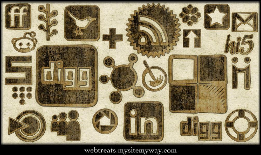 Patchwork Worn Cloth Icons by WebTreatsETC