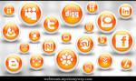 Glossy Orange Orb Soc. Media
