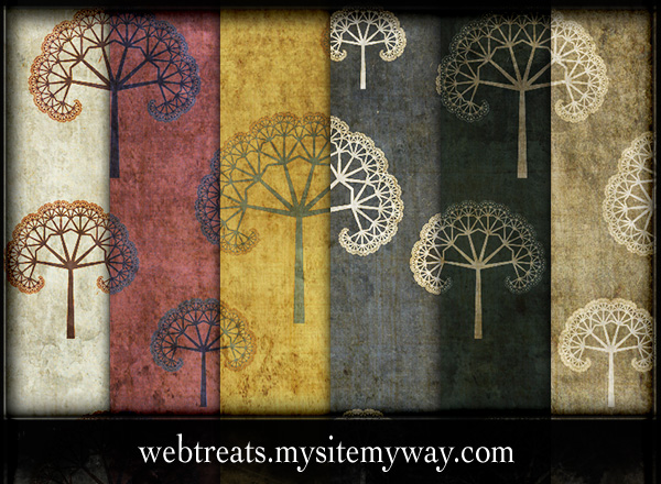 Grungy Fractal Tree Patterns