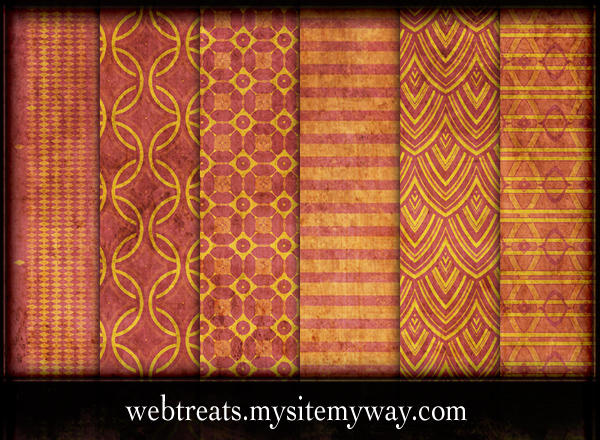 Grungy Summer Patterns by WebTreatsETC