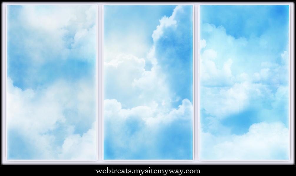 Seamless Cloud Patterns by WebTreatsETC