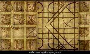 Roman Letter Diagrams by WebTreatsETC