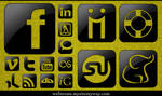 Glossy Black Social Media
