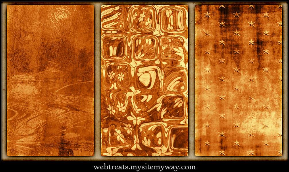 Warm Amber Tileable Patterns by WebTreatsETC