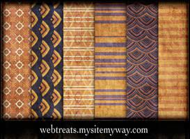 Orange Violet Grungy Patterns by WebTreatsETC