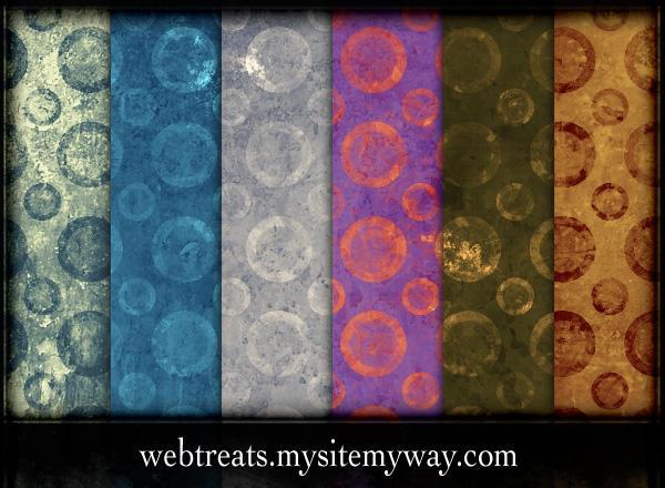 Grungy Circles Patterns by WebTreatsETC