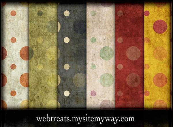 Grungy PolkaDot Patterns 2 by WebTreatsETC