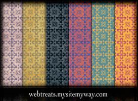 Grungy Vintage Patterns by WebTreatsETC