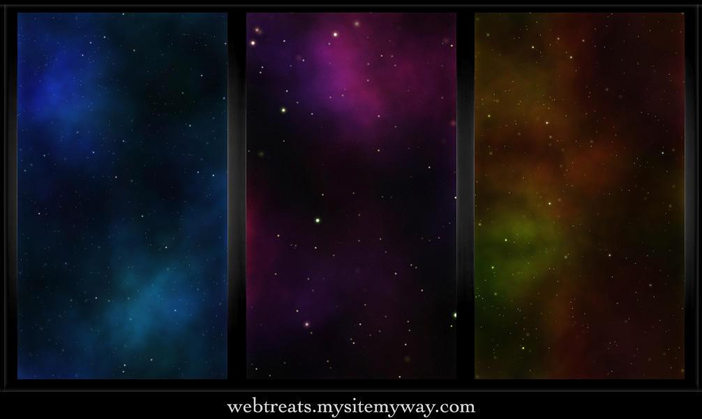 Classic Nebula Space Patterns by WebTreatsETC