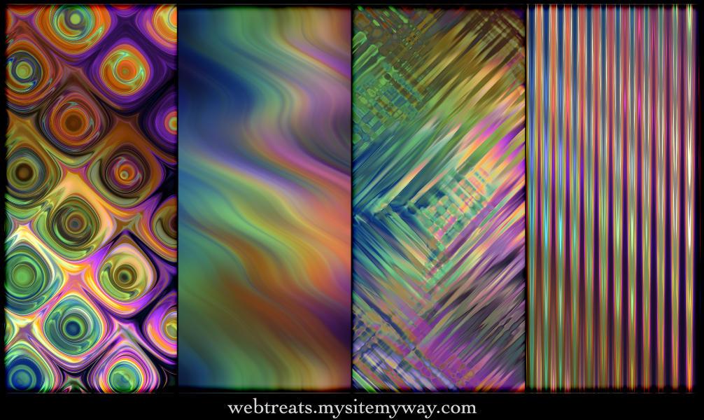 Seamless Peacock Blues Pattern by WebTreatsETC