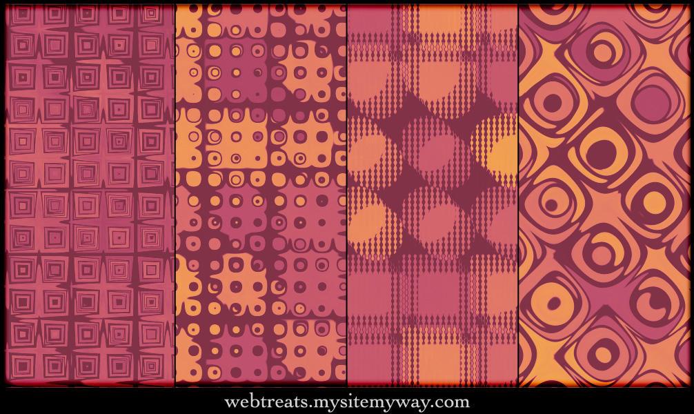 Warm Autumn Retro Patterns by WebTreatsETC