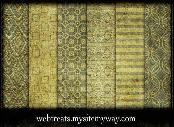 Vintage Pea Green Patterns