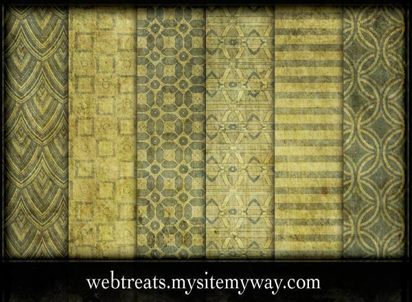 Vintage Pea Green Patterns by WebTreatsETC