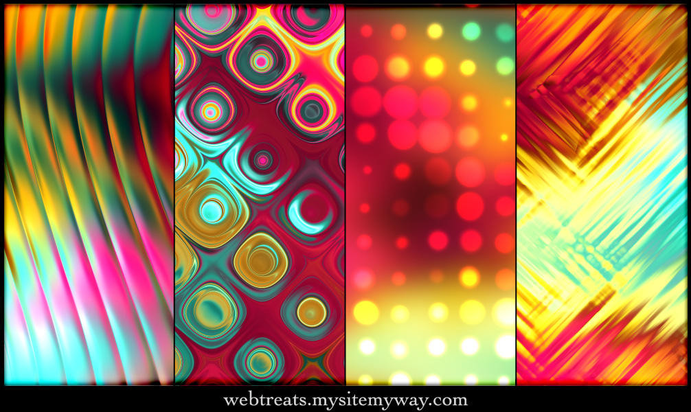 Tropical Abstract Patterns - 1 by WebTreatsETC