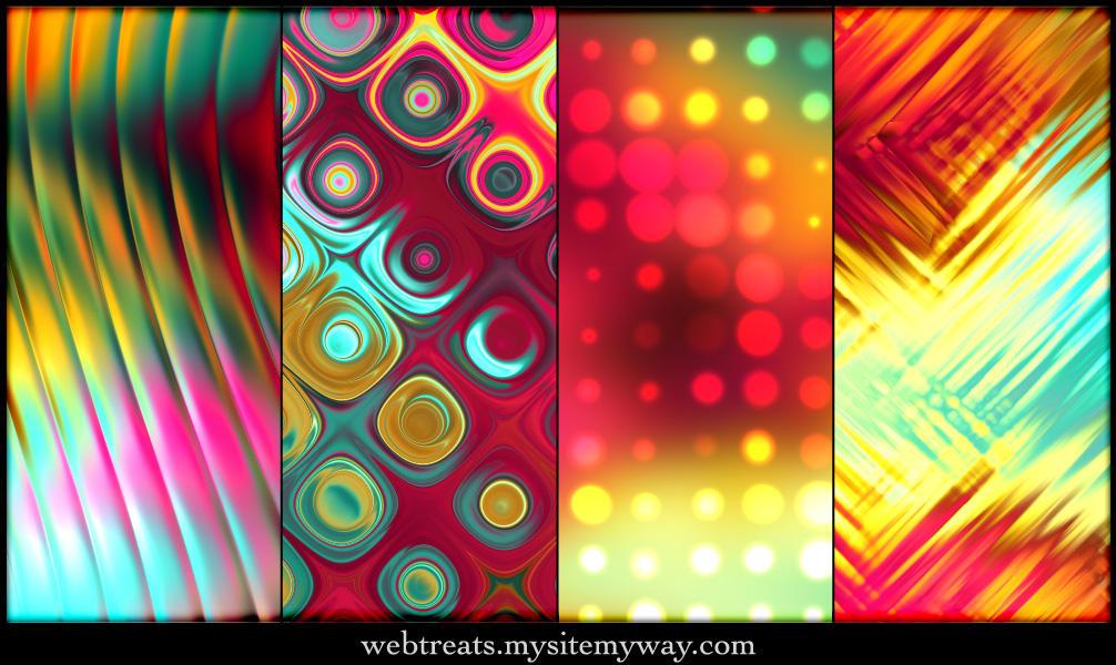 Tropical Abstract Patterns - 1 by WebTreatsETC