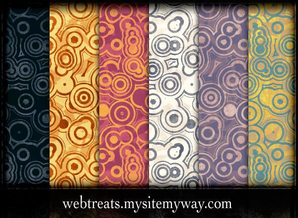 Urban Circles Grunge Patterns by WebTreatsETC