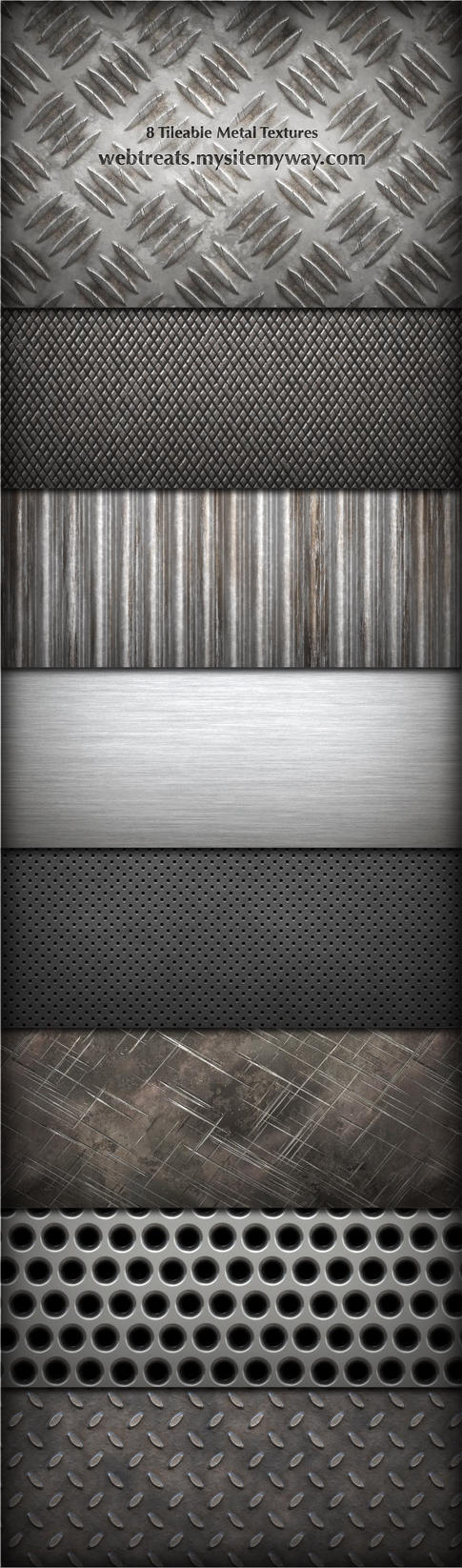 8 Tileable Metal Textures by WebTreatsETC