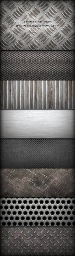 8 Tileable Metal Textures