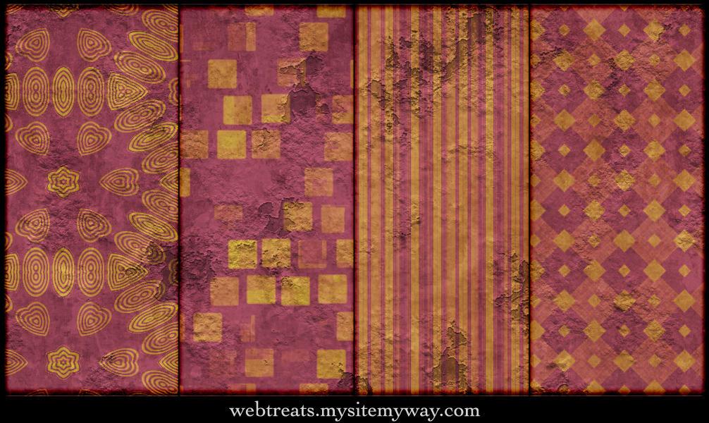 Extreme Grunge Peeling Pattern by WebTreatsETC