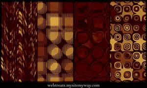 Golden Red Retro Patterns