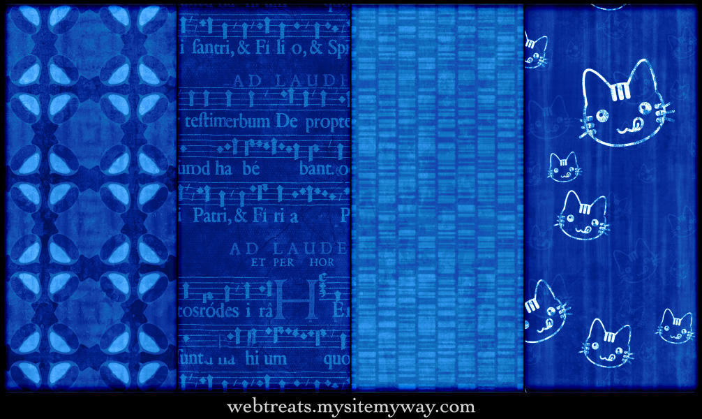 Vibrant Blue Seamless Patterns by WebTreatsETC