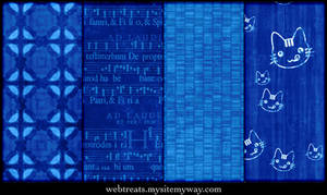 Vibrant Blue Seamless Patterns