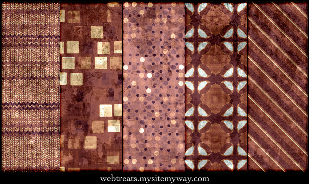 Grungy Burgundy Patterns by WebTreatsETC