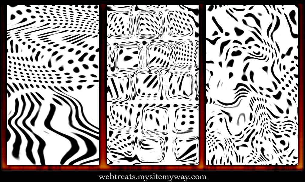 Abstract Warped Dots Patterns