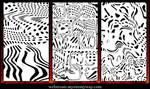 Abstract Warped Dots Patterns