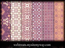 Playful Lavender Peach Pattern by WebTreatsETC