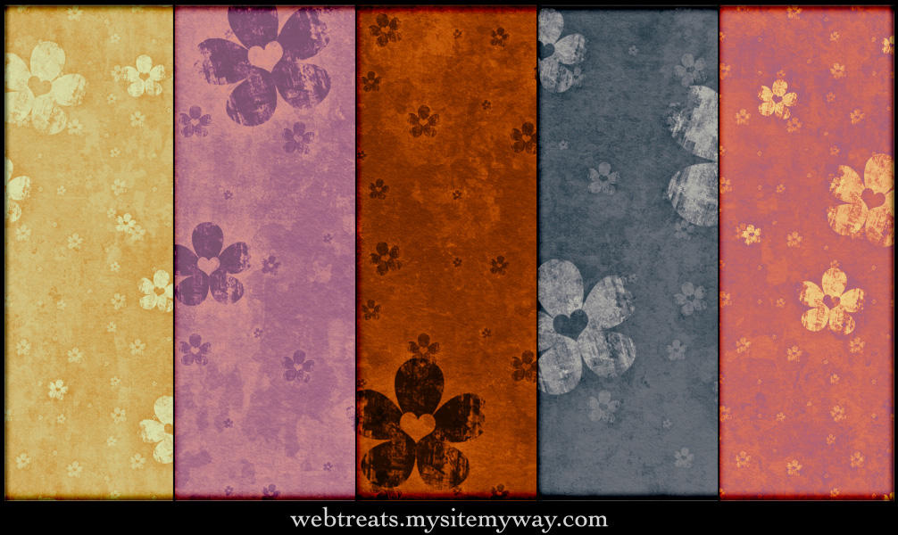 Hearts and Flowers Patterns by WebTreatsETC