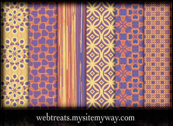 Free Seamless Fiesta Patterns by WebTreatsETC