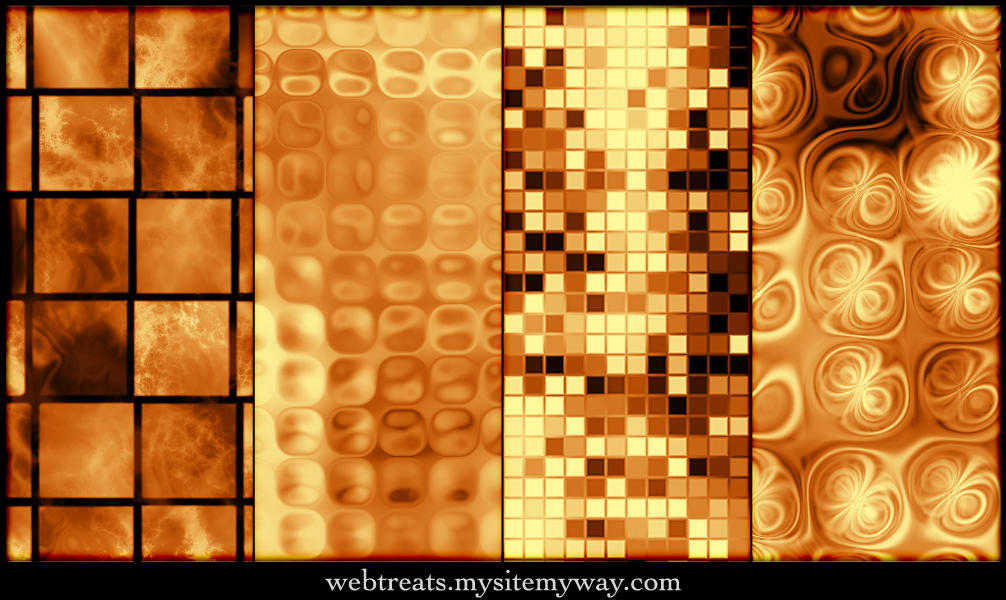 Seamless Warm Copper Patterns by WebTreatsETC